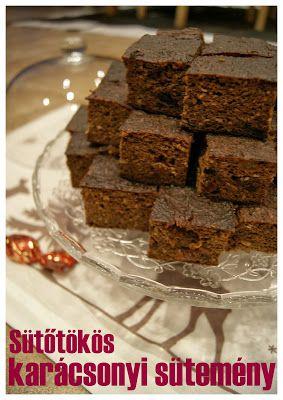 Sütőtökös csokoládés karácsonyi sütemény