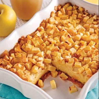 Pouding moelleux au pain et pommes - Brunchs - Recettes 5-15 - Recettes express 5/15 - Pratico Pratiques - Dessert