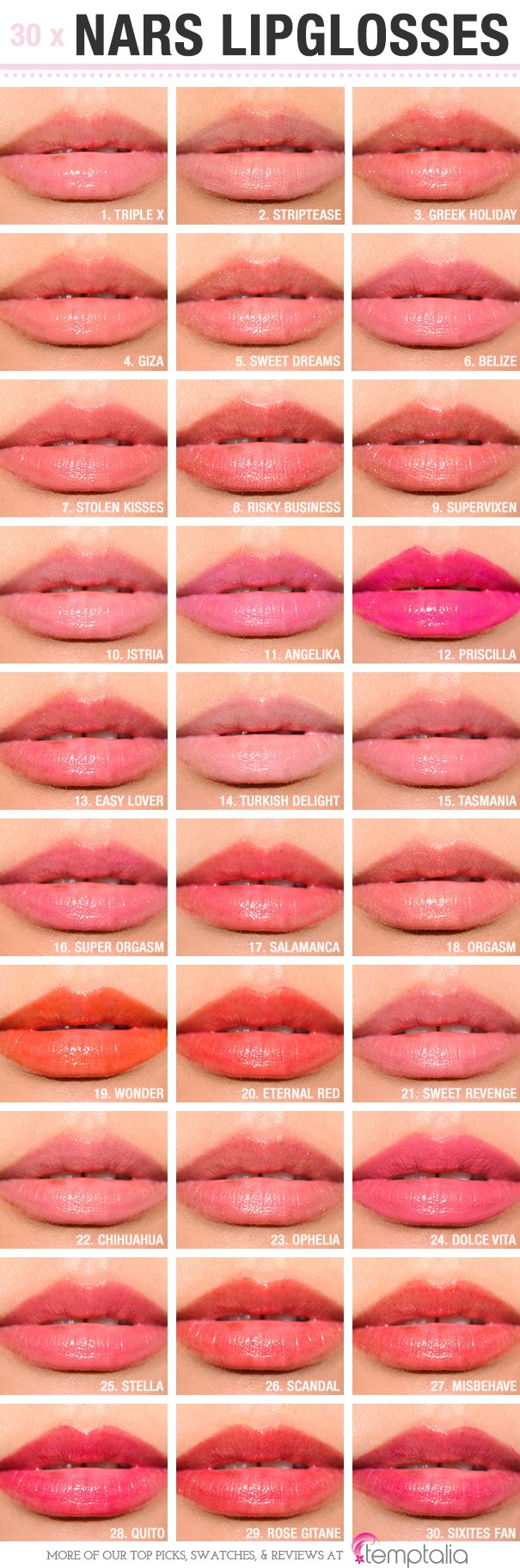 Sneak Peek: NARS Lipglosses Photos & Swatches