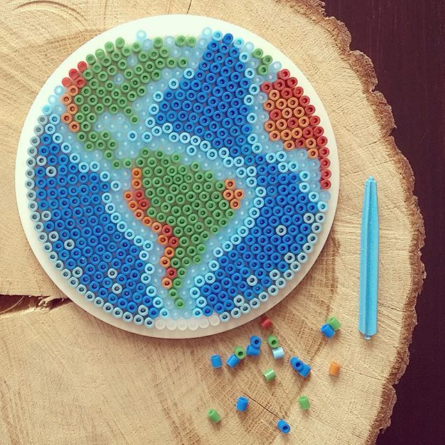 The Earth hama perler beads by tamatek