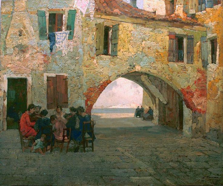 Chioggia, Venice, Angelo Pavan. Italian (1893 - 1945)