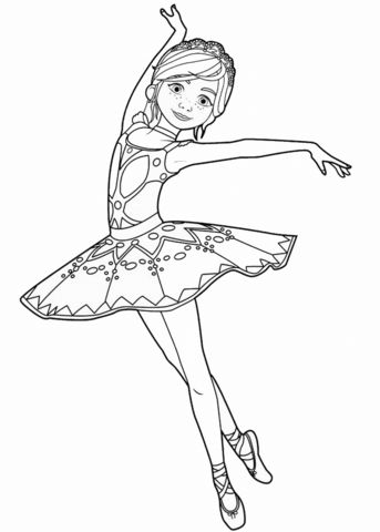 25 b sta Ballerina coloring pages
