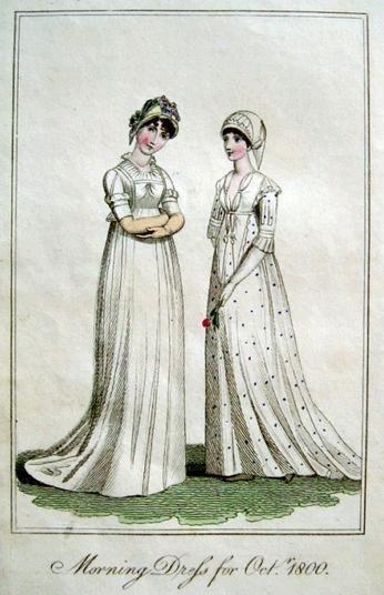 1800 October morning dress.