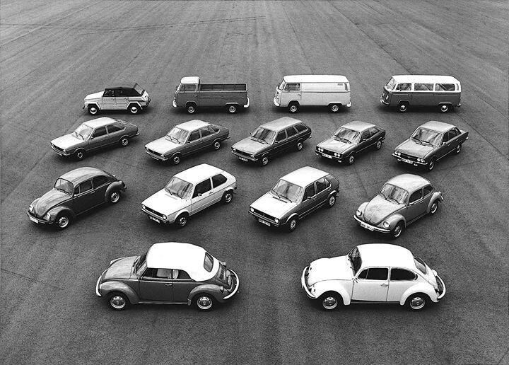 1974 VW product range