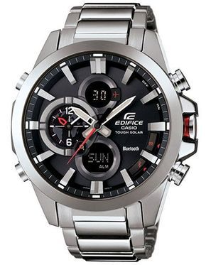 Casio Edifice Tough Solar - Mobile Link Function - Black Dial - Stainless Steel