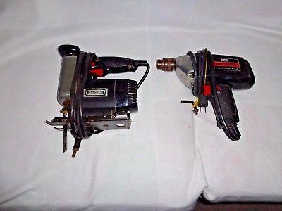 Set Of Craftsman Scroll -Sabre -Jig Saw & 3/8 Drill Both Run & Work Great Great