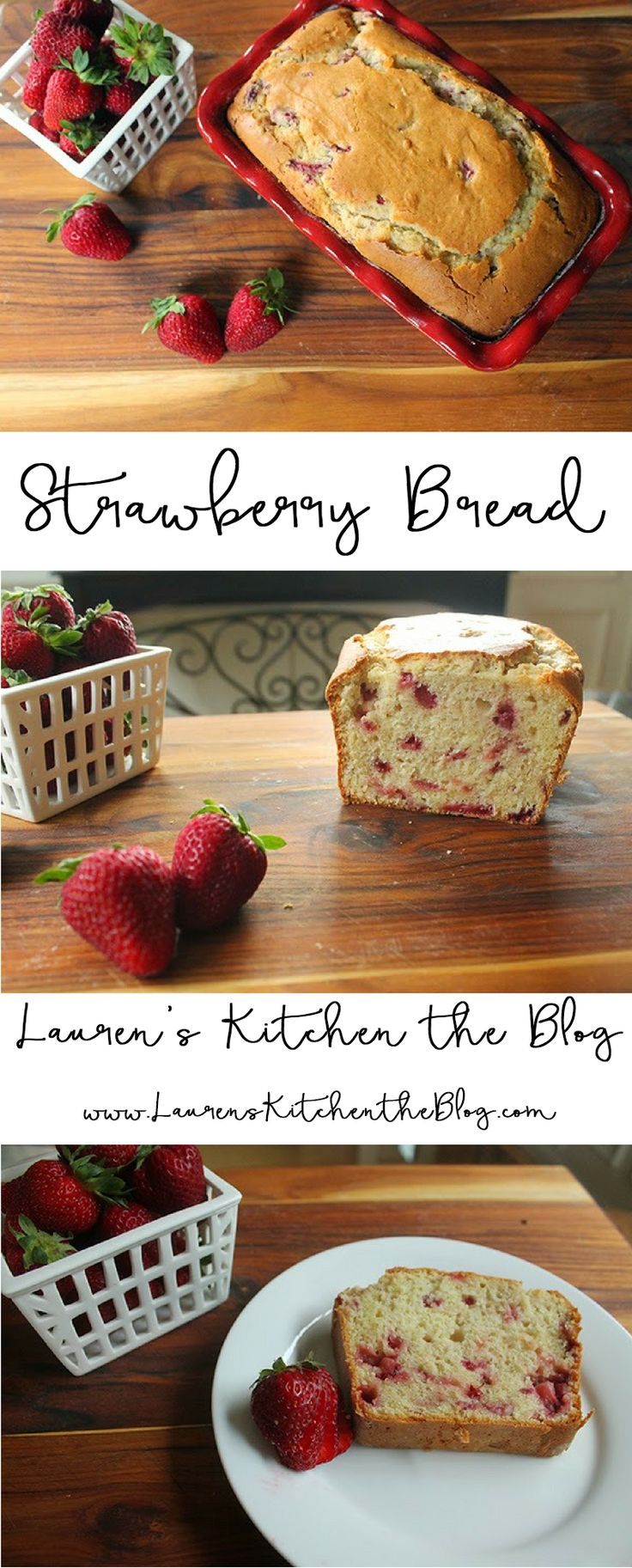 Fresh Strawberry Bread that is perfect for breakfast or dessert!