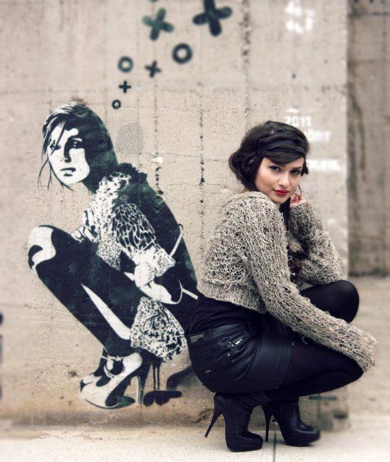 Grunge-Pullover Pullover abgeschnitten von BonniesCinematheque