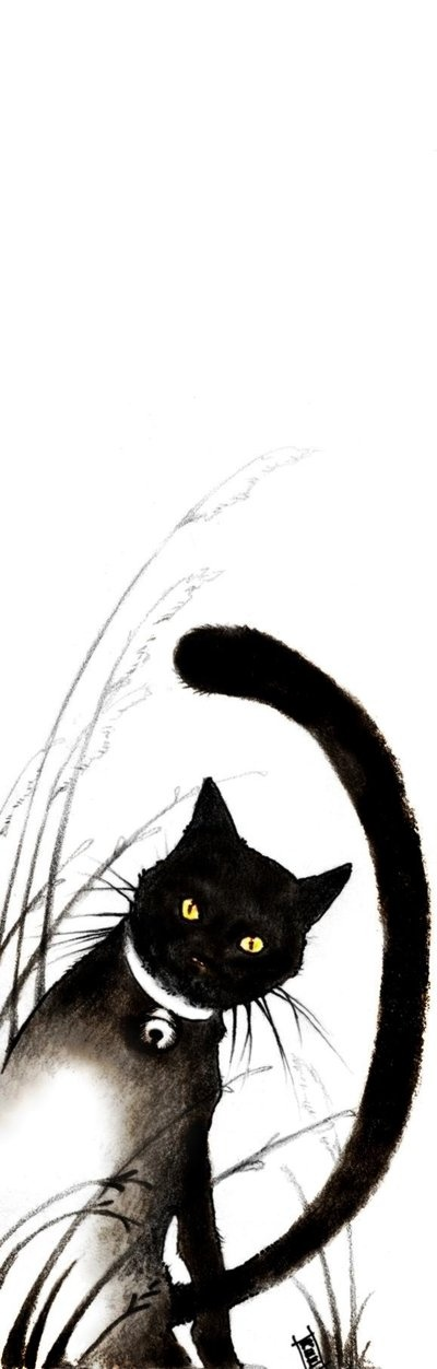 Chat marque page imprimer cat marque page - Chat a imprimer ...