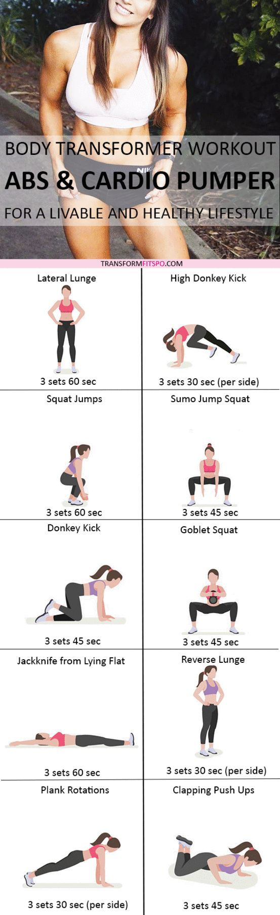 Repin if this total body workout worked magic for your abs! Read the post for all the information!