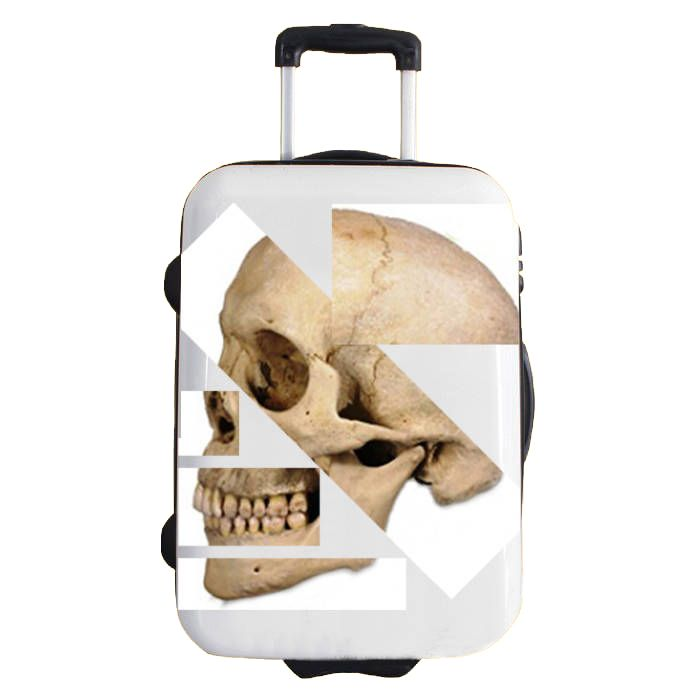 2differ sticker for bags and suitcases model SKULL