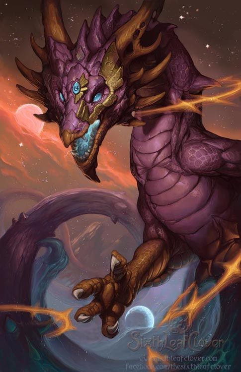 Dragon Art by Sixthleafclover-Clean Cover Art for the 2014 Dragon Calender