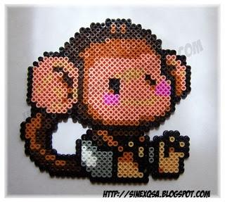 Baby Monkey hama beads