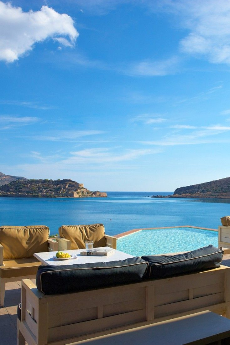 Sip a sundowner at the stunning Dome Bar. #Jetsetter Domes of Elounda (Crete, Greece)