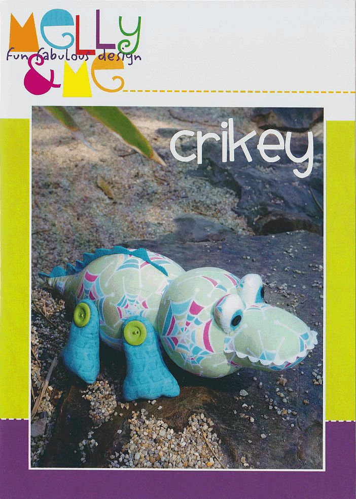 Crikey the crocodile by Melly & Me