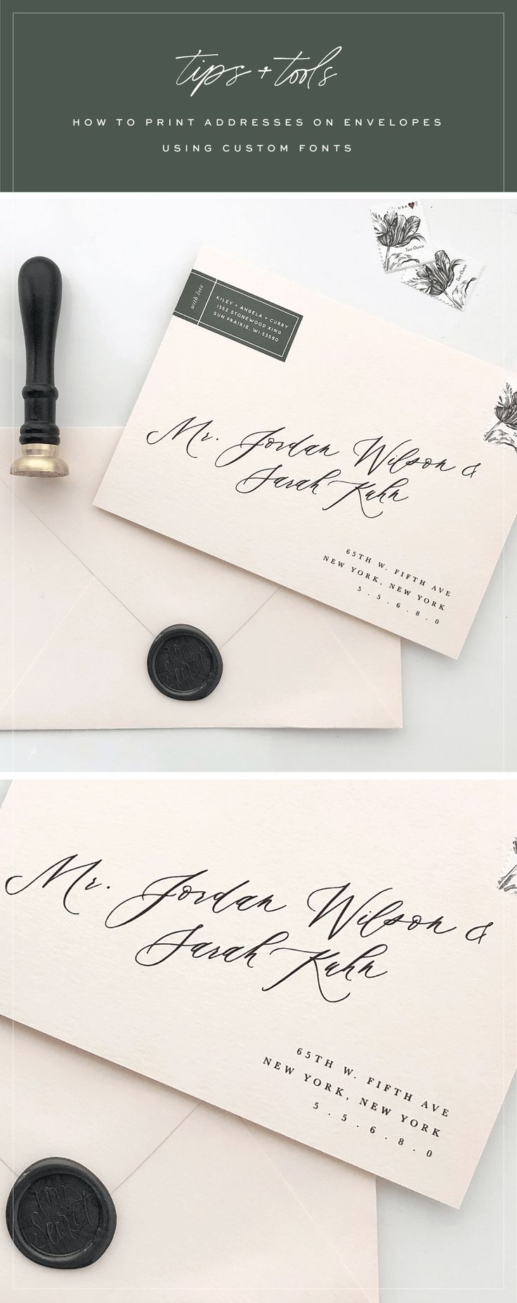 Tutorial : How to print addresses on envelopes using custom fonts : Saffron Avenue