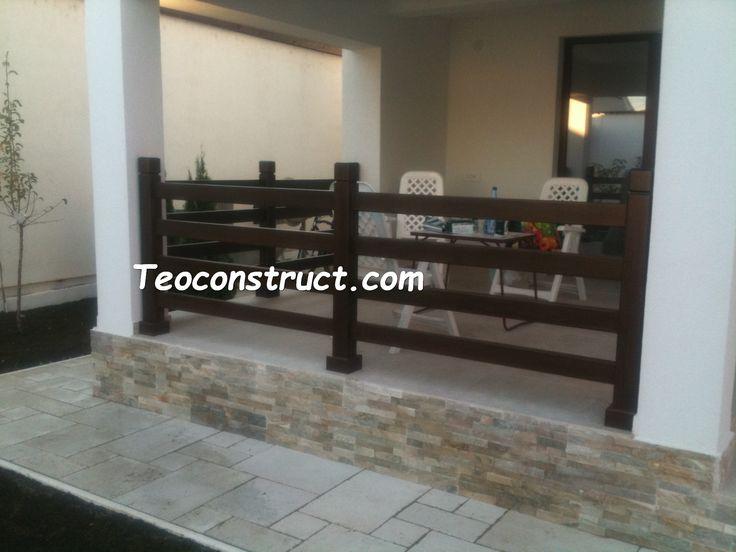 Balustrade din lemn pentru exterior  01