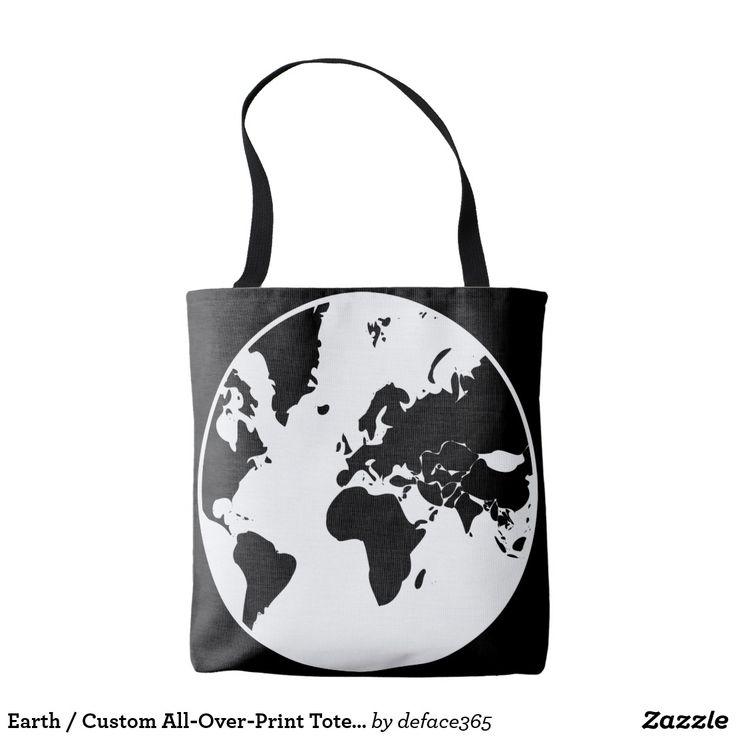 Earth / Custom All-Over-Print Tote Bag