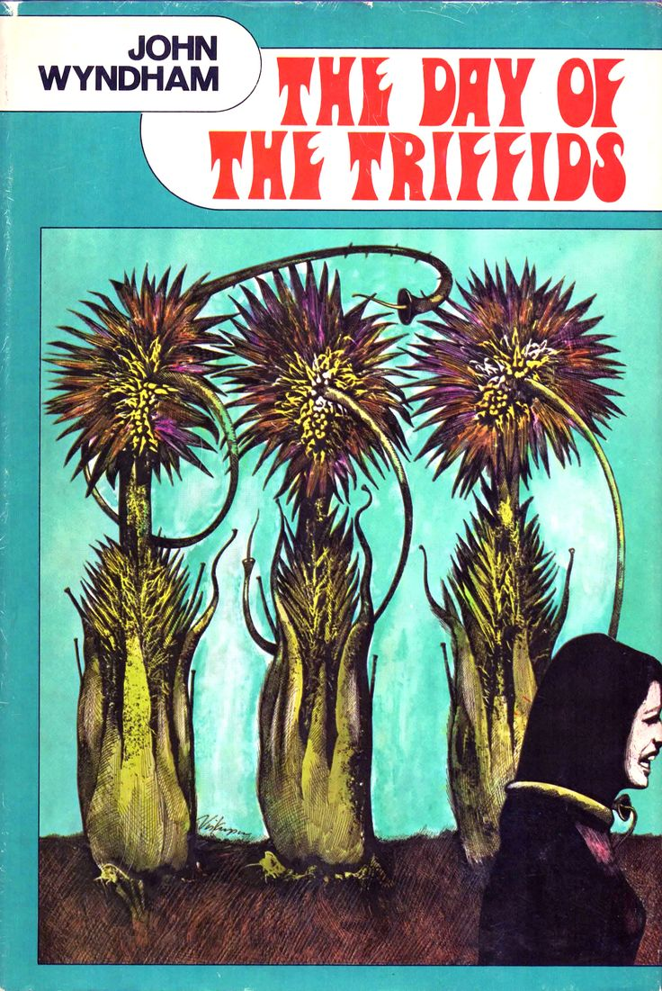 The Day Of The Triffids by John Wyndham. Double and Company. Hard cover copy that I got through the Science Fiction Book Club. Original copyright 1951. The SF Book Club printed lower quality versions that were smaller than full price editions. I have a few and they've held up very well.