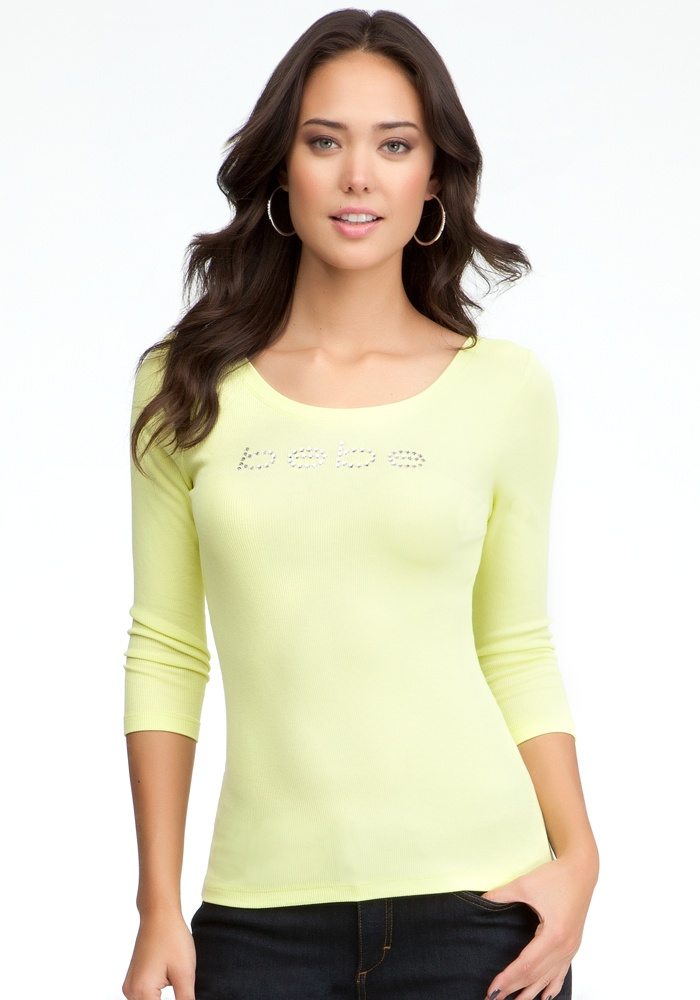 Logo Basic 3/4 Sleeve T-Shirt - Sunny Lime - L
