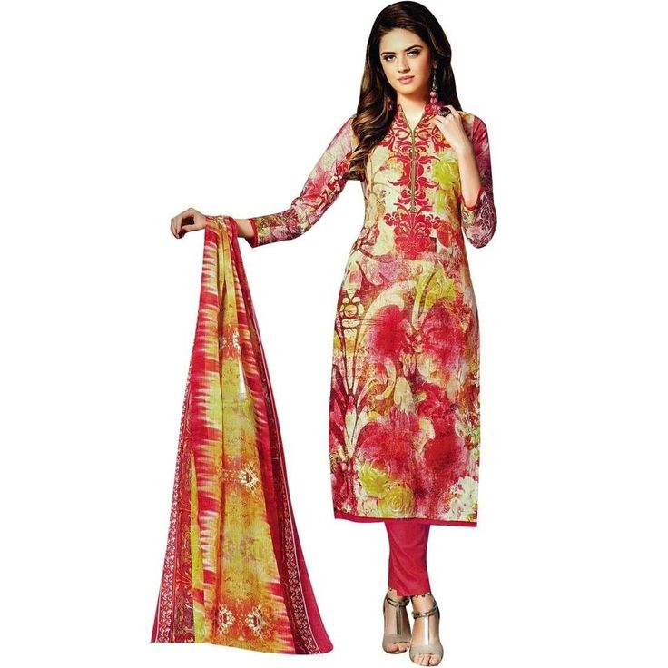 Ready Made Gorgeous Indian Printed Cotton Salwar Kameez, Print, Casual, Evening Suit  #DressMaterial #NewStuff #LowestPrice #SalwarSuit #FreeShipping #Designer #ShopNow #SalwarKameez