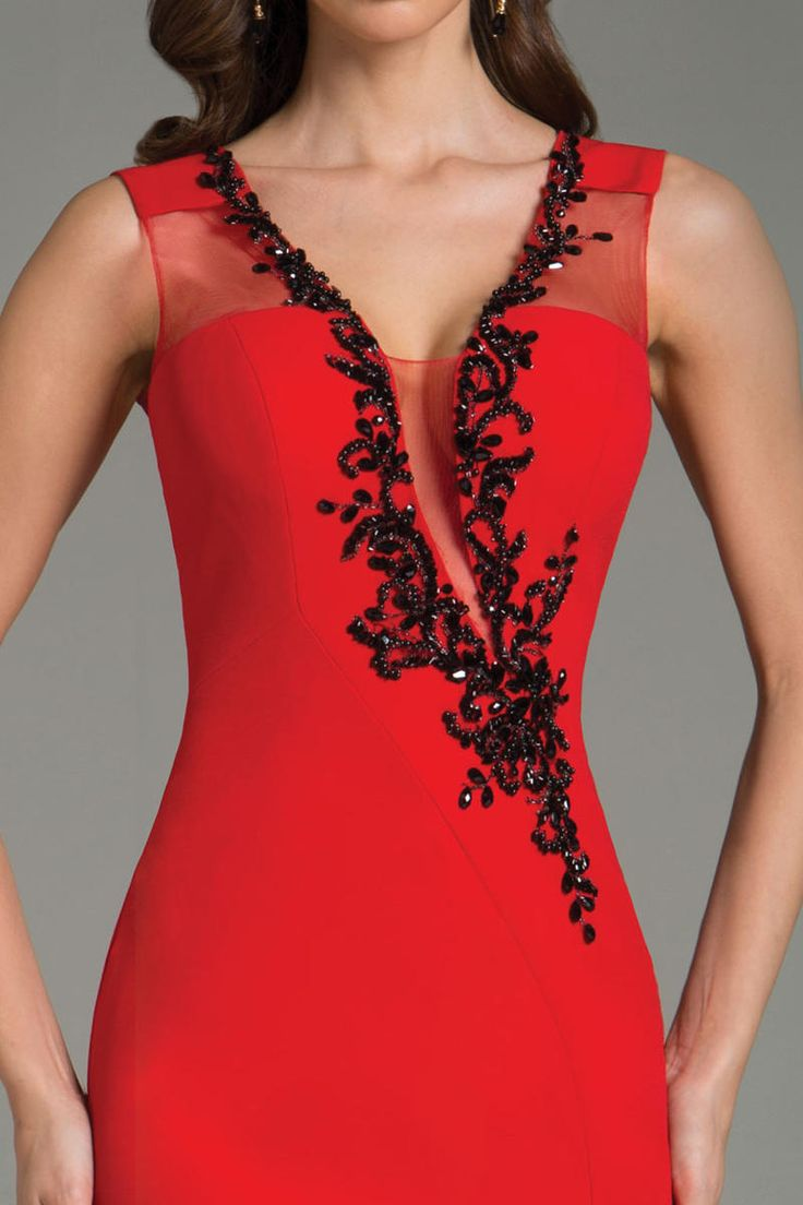 Love the neckline and beadwork