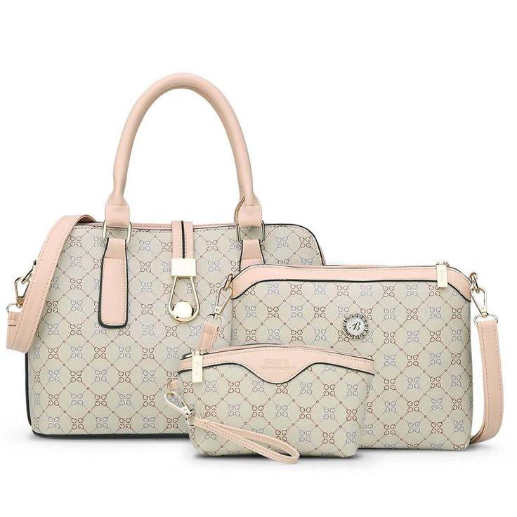 3 Bag Set with Handbag, Shoulderbag And Purse