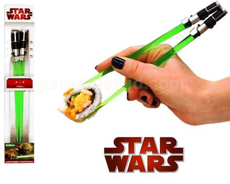 Big Star Wars fan you are, Lightsaber chopsticks you need. If you are a true blue Star Wars fan who also loves Japanese sushi or Chinese food, you owe it to yourself to get a pair of Star Wars Lightsaber Chopsticks. Produced by Kotobukiya of Japan, these Lightsaber chopsticks are a great addition to any Star Wars fan's collection of Star Wars memorabilia…
