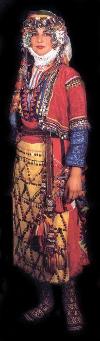 Antalya, bride's dress. Turkey トルコ アンタルヤ地方の花嫁