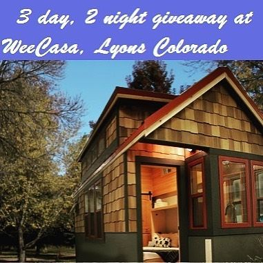 @Regrann from @coloradotinyfest - Have you stayed in a #tinyhouse yet? The Colorado Tiny House Festival is giving you a chance to win a 3-day 2-night stay at @weecasa in beautiful Lyons Colorado! (Over a $400.00 value!) How do you win? Buy your tickets for the festival online at our website or Facebook page before July 28th and you're automatically entered to win. If you have already purchased tickets online you are already entered!  Link to our website is in our bio.  Not only will you get…