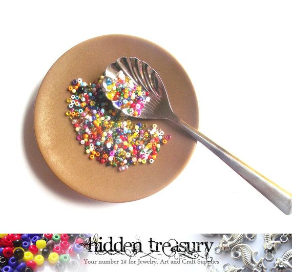 Colorful Seed Beads Hundreds and Thousands by HTCandyBeads on Etsy, $2.00