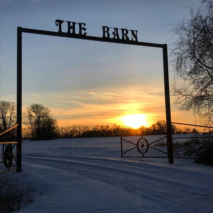 """19/365.  Sunrise on 1/19/18.  A Pittsburg, Kansas landmark — """"The Barn"""" on a snowy, sunny morning.  By the end of the weekend all of the snow will have melted.  Good morning ☀️  to one and all.  #Sunrise #Friday #TGIF #Pittsburg #Kansas #Snow #beautifulmorning #beautifulday #beautifulsky #freezing #January  #Winter #TheBarn #happiness #joy #love #faith #hopeful #kindness #forgiveness #positivity #positivevibes #behappy #bekind #bepositive #newyearsresolution #photography #hobby"""