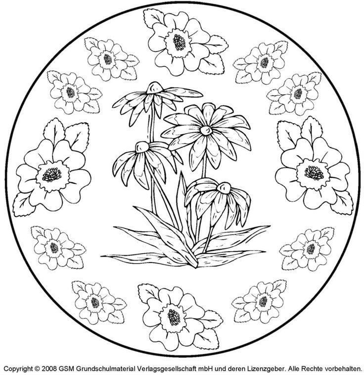mandala zum ausdrucken frühling  mandala zum ausdrucken