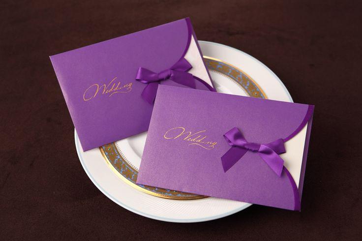 Invitación de boda en lila