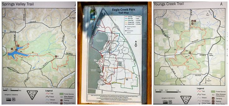 Springs Valley Trail, Eagle Creek Park Trail, Young's Creek Trail, Indiana Trail Running Maps