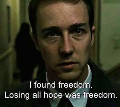 Fight club  #fightclub #hollywood #movie #quote #dialogue #actor #oscar #1999 #film #freedom #losing #hope #fight #club #tylordurden http://quotags.net/ipost/1649551384965484162/?code=BbkYj6znw6C