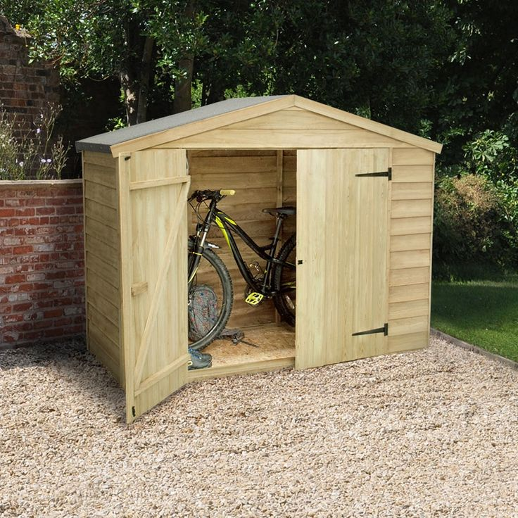 7x3 pressure treated overlap bike store - Garden Sheds 7 X 3