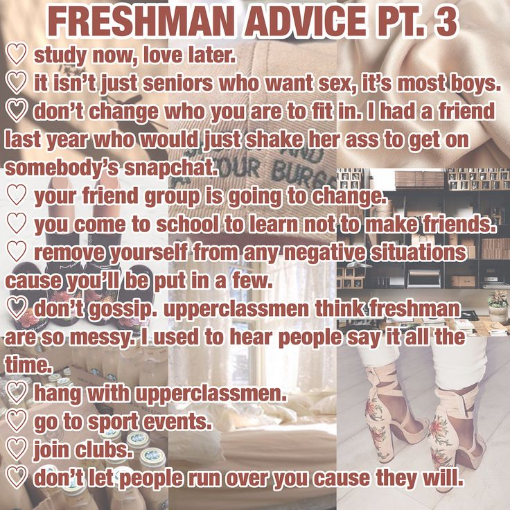 Freshman Advice Part 3 ❤️  by @selenanxcole
