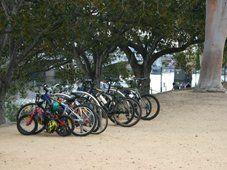 Melbourne bike trail at the Yarra