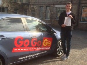 I am so happy with the Go Go Go Intensive driving team. They have helped me pass my theory test and practical test first time ( practical only 4 faults ). They have also saved me months of waiting by pre-booking my theory test and fast tracking my practical test a few days after the course finished.