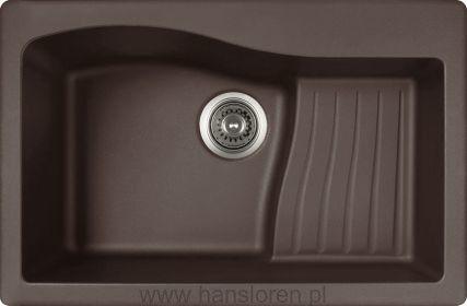 FOLK Hansloren zlewozmywak granitowy 1-komorowy 839x558 mm espresso - FOEN-1WMB  http://www.hansloren.pl/Zlewozmywaki-granitowe/Zlewozmywaki-1-komorowe/HANSLOREN