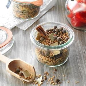 Homemade Pickling Spice Recipe- Recipes  I can every year and I love to use this pickling spice for my pickles. Everyone says they are the best they have ever had. —Olivia Miller, Memphis, Tennessee