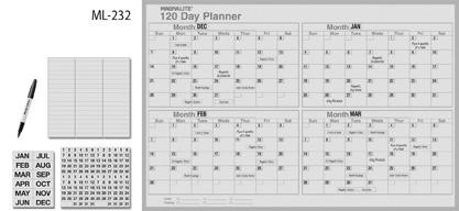 17 best images about printables mailables on pinterest for 120 day calendar template