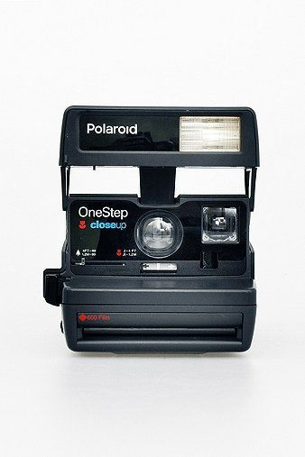 Refurbished '80s-Style Polaroid 600 Camera and Film Set.