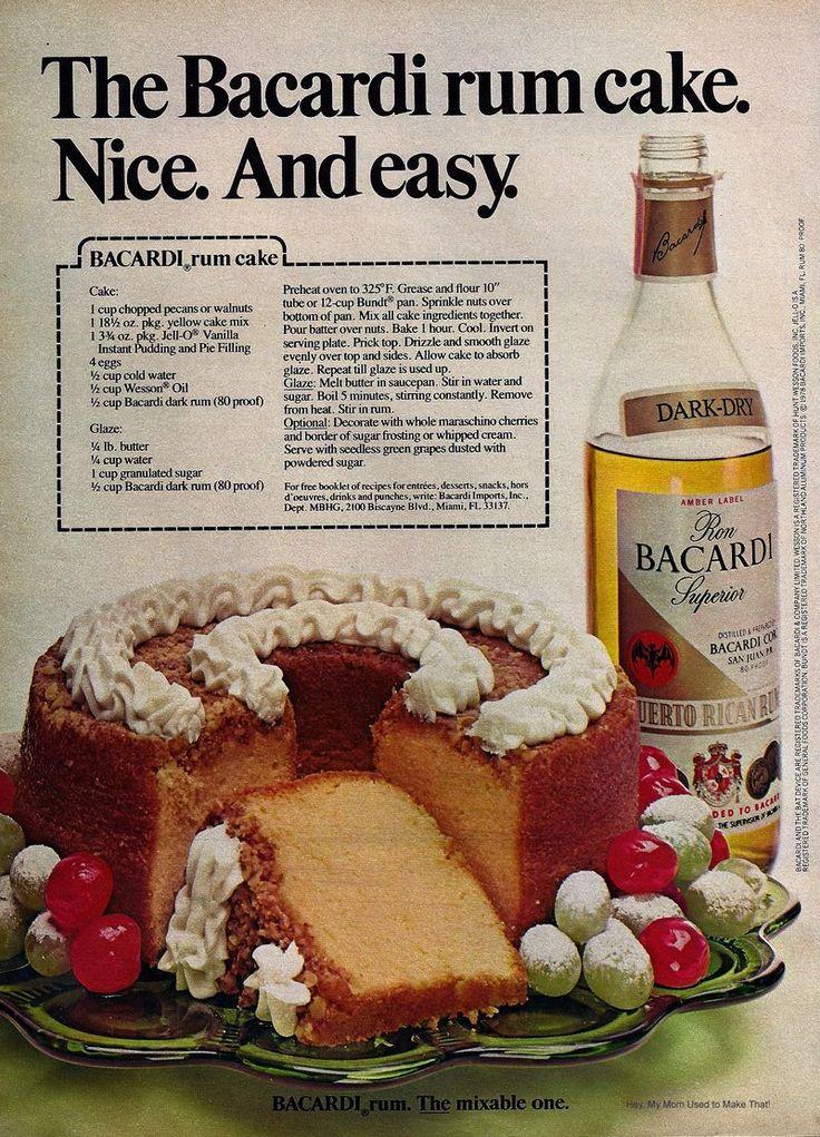 Duncan Hines Butter Rum Cake Recipe