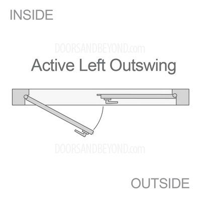Double Doors Swing Direction Active Left Outswing