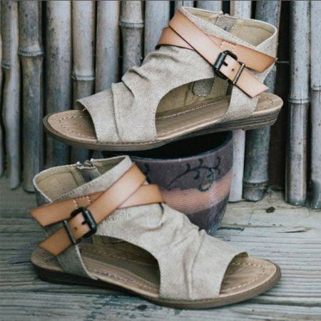 492ace0a96be Shop Sandals   Flip Flops - Breathable Denim Cloth Women Adjustable Buckle  Sandals online. Discover unique designers fashion at PopJuLia.com.