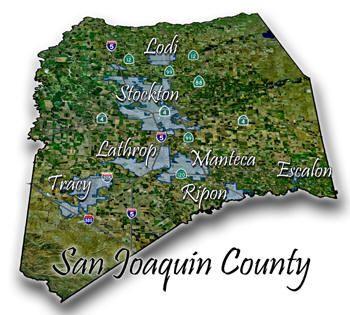 Map Of San Joaquin County