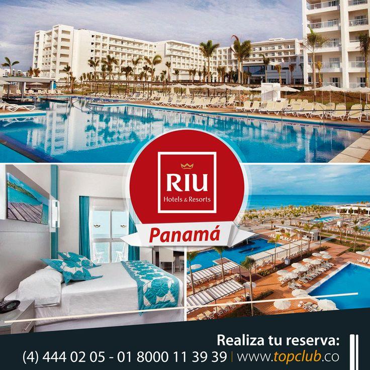 Escápate a #Panamá estas vacaciones y disfruta con #TopClub en el Hotel Riu Playa Blanca desde 110USD por noche (todo incluido), llámanos al (4) 444 02 05 - 01 8000 11 3939 y realiza tu reserva. RIU Hotels and Resorts #Vacaciones #Ahorro