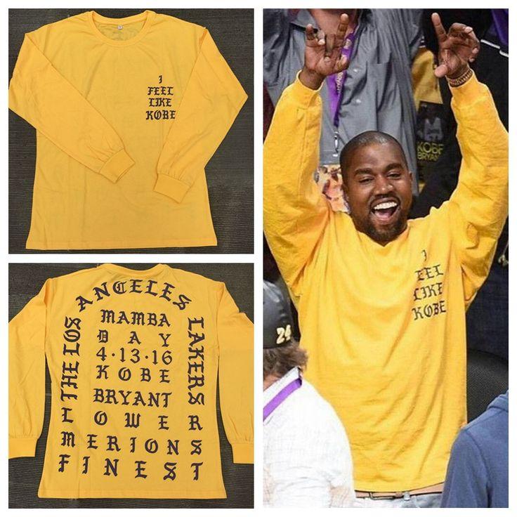 2016 Yeezy Kanye West I Feel Like Kobe long sleeve commemorate T shirt